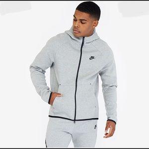 Light Grey Nike Hoodie Tech Fleece